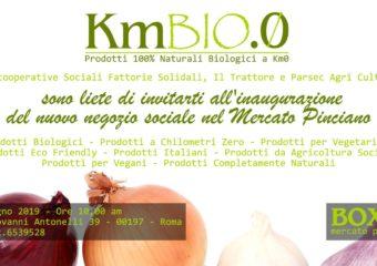 KM.BIO.0, il 22 giugno l'inaugurazione del negozio sociale al Mercato Pinciano